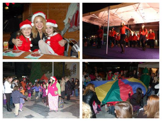 Πολλά δρώμενα, κυρίως για τα παιδιά, πλαισίωσαν το άναμμα του χριστουγεννιάτικου δέντρου στον Δήμο Αχαρνών